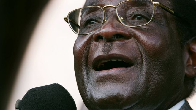 Robert Mugabe in 2007