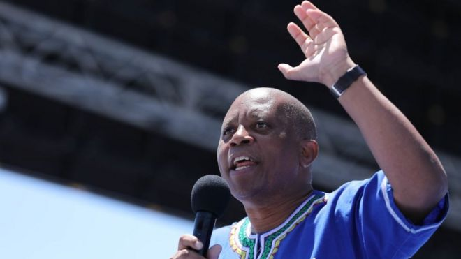 Former Johannesburg mayor Herman Mashaba pictured during the Democratic Alliance (DA) manifesto launch in February 2019.