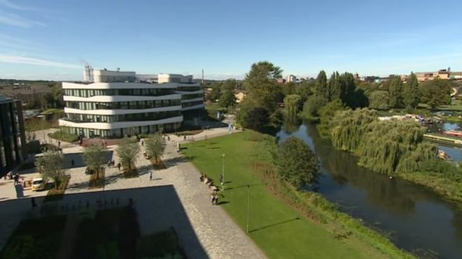 ba3df5617 University of Northampton opens £330m Waterside Campus - BBC News