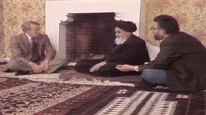 Risultati immagini per در پاریس آیت الله خمینی در مصاحبه
