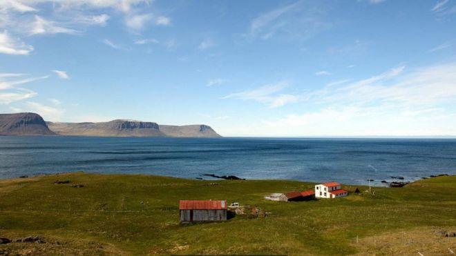 Paisagem da Islândia