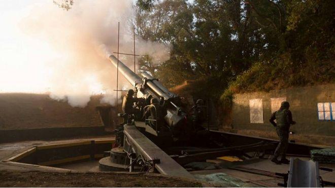這次在馬祖進行射擊演習的240公厘榴彈炮在台灣已經服役了60多年(台灣陸軍司令部)