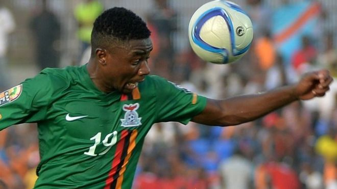 Zambias Nathan Sinkala During The  African Cup Of Nations