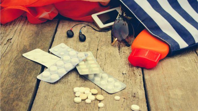 Medicine with beach bag