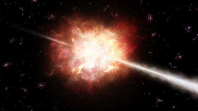 Brote de rayos gamma.