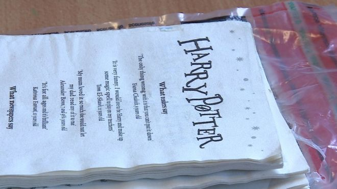 HMP Nottingham inmates 'smoked' Harry Potter pages - BBC News