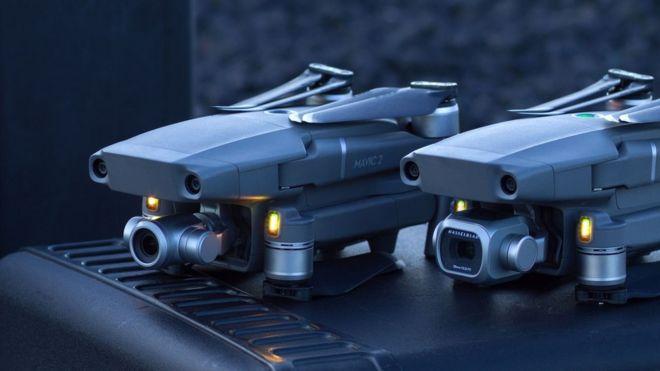 DJI Mavic 2 drones add obstacle sensors to all sides - BBC News
