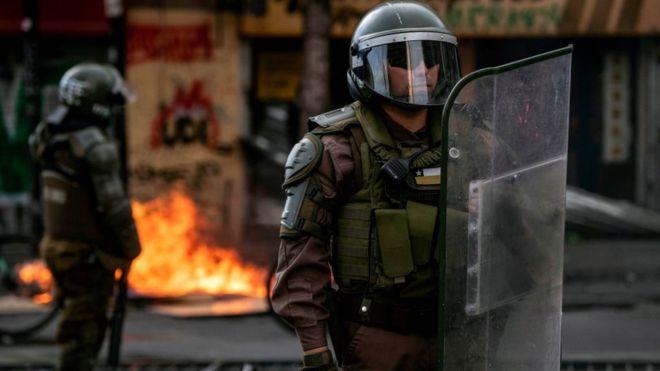 Fuerzas especiales en una protesta