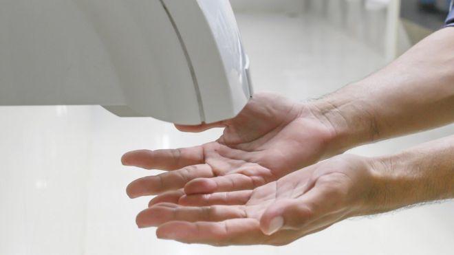 Secador de ar para as mãos