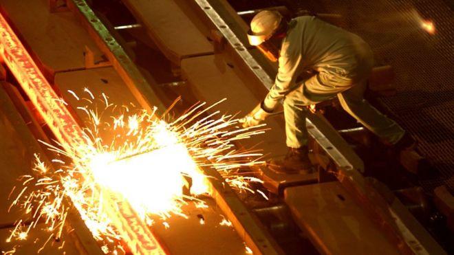 加州钢铁厂工人