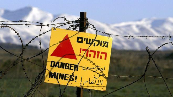 Golan Tepeleri'ndeki mayın tarlası