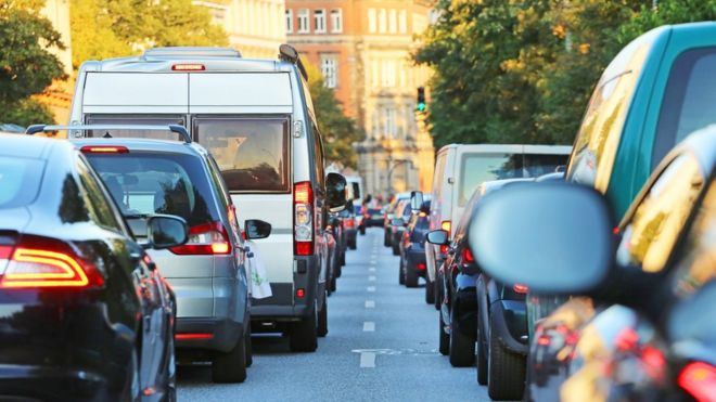 Most congested roads in the UK