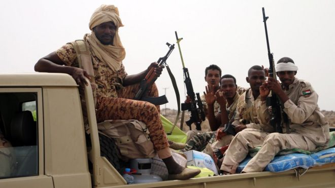 Sudanese forces fighting alongside the Saudi-led coalition in Yemen