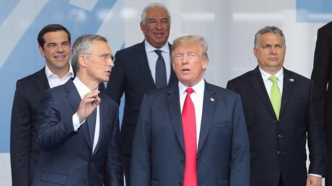 特朗普和北约秘书长斯托尔滕贝格
