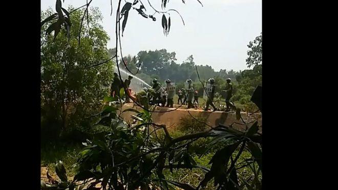 Hình ảnh đoạn video clip được cho là quay tại Đầm Trà Ổ hôm 8/5 được lan truyền nhiều trên mạng