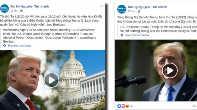 Ảnh chụp màn hình thông tin trên trang Đại Kỷ Nguyên trong nghiên cứu cửu Facebook