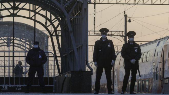 Полиция на одном из московских вокзалов