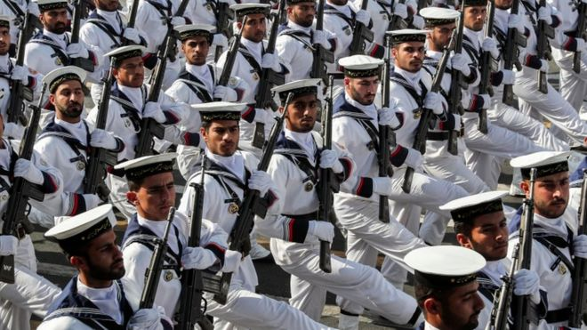 Iran has been holding military parades to mark the start of the 1980-88 Iran-Iraq war