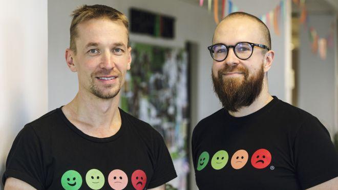 Heikki Vaananen (izquierda) y Ville Levaniemi
