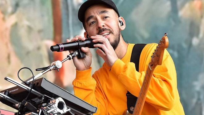 Mike Shinoda: Don't be ashamed if you're hurting - BBC News