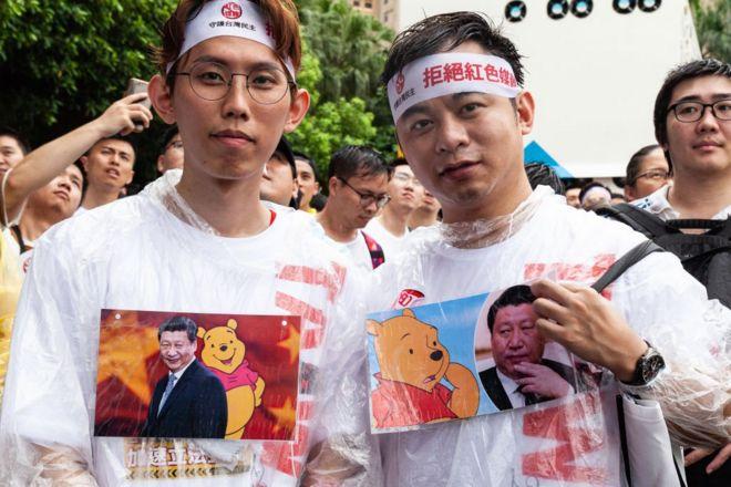 Người biểu tình tại Đài Loan hôm 23/6/2019 yêu cầu các công ty truyền thông Trung Quốc rút khỏi Đài Loan