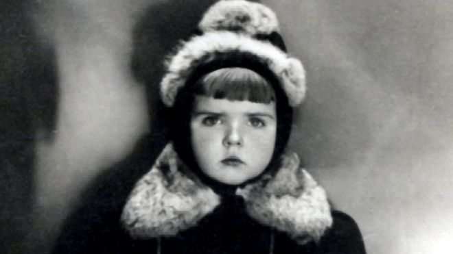 Vaira aged five in Riga, Latvia, in 1942