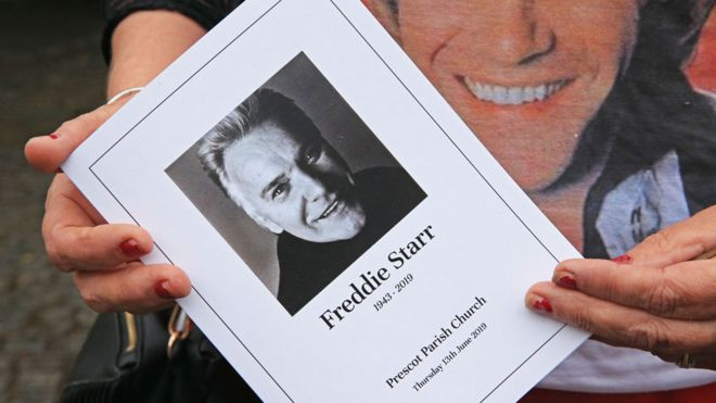 Freddie Starr funeral: Red roses and Elvis tributes as fans