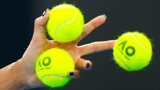 What colour do you think these tennis balls are? - BBC News