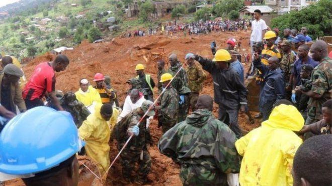 ناپدید شدن دستکم ۶۰۰ نفر در سیلاب سیرالئون