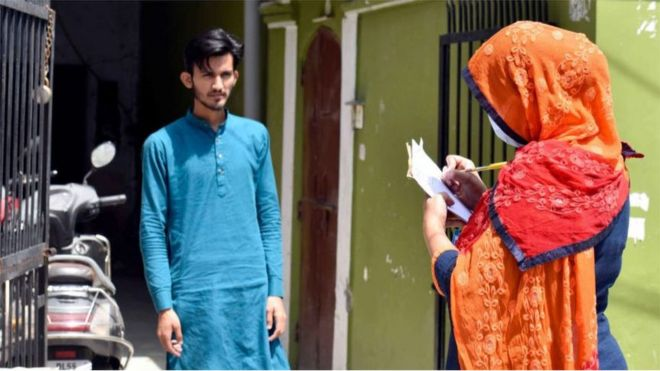 ASHAs have been conducting household surveys to contain the virus