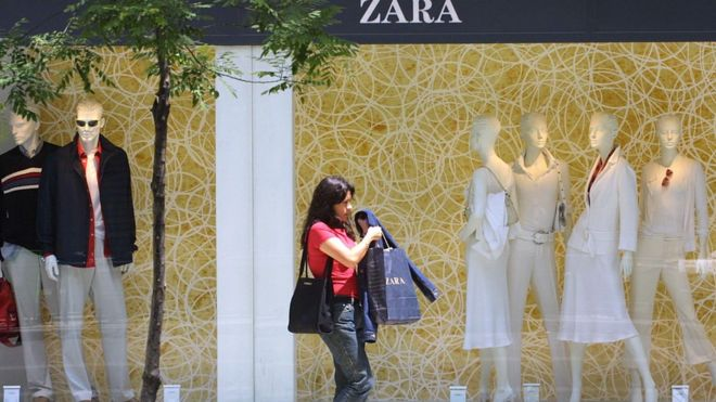 Online sales surge boosts Zara owner Inditex - BBC News