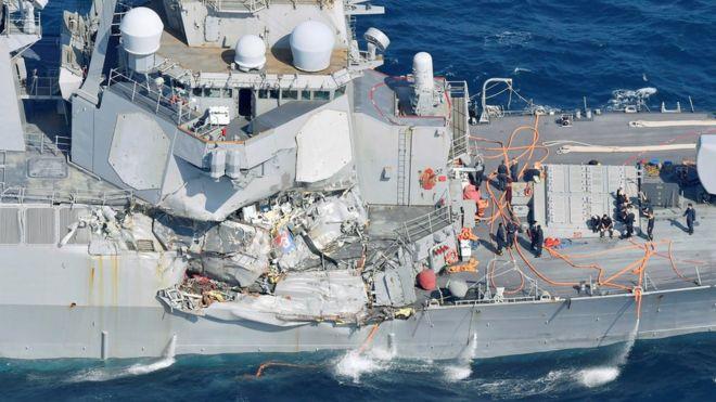 Daños en el USS Fitzgerald