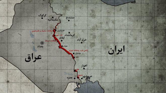 مناطق باقی مانده در اشغال عراق پس از آزادی خرمشهر و عقب نشینی های بعدی عراقیها ( تیر ۱۳۶۱)