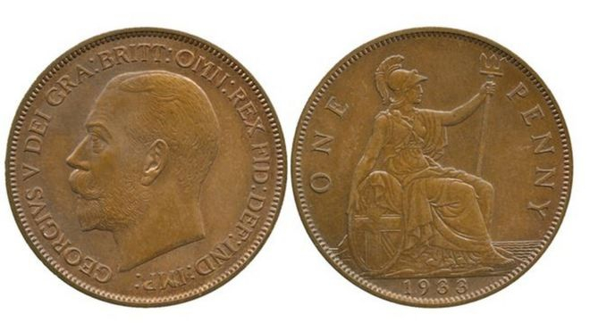 Rare 1933 penny sells for £72,000 - BBC News