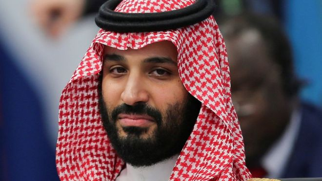 Crown Prince Mohammed bin Salman at a summit in Buenos Aires, Argentina, 30 November 2018