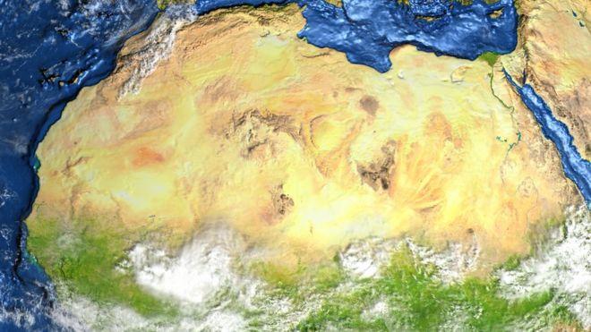 Desierto Del Sahara Mapa.Como Era El Sahara Antes De Convertirse En Uno De Los