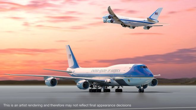 710a4aed3869a Trump supersizes America s most famous aeroplane - BBC News