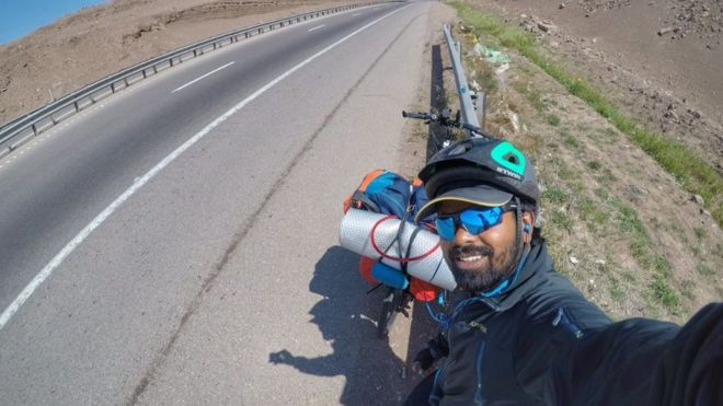 World Cup 2018: The Indian who cycled to Russia to meet Messi
