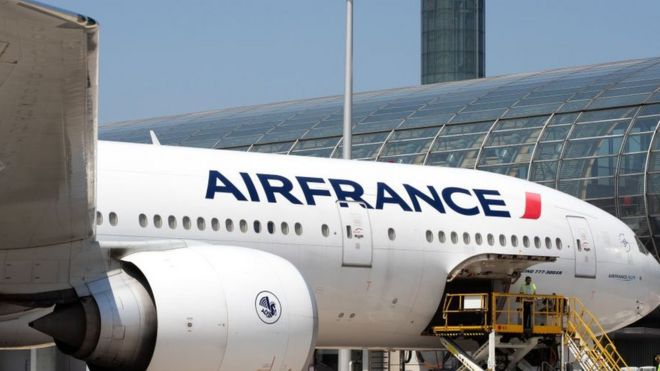 An Air France Boeing 777 at Charles de Gaulle Airport - June 2019