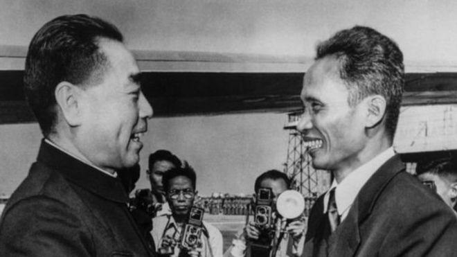 Chu Ân Lai và Phạm Văn Đồng năm 1956