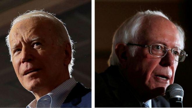 Biden y Sanders.