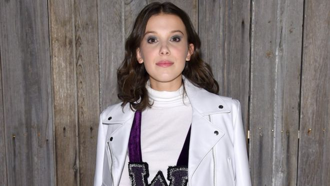 time 100 millie bobby brown is youngest person ever on list bbc news