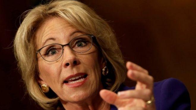After Devos Vote Fight For Public >> Education Nominee Betsy Devos Wins Senate Confirmation Vote Bbc News