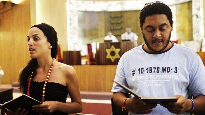 Servicio religioso judío en Cuba.