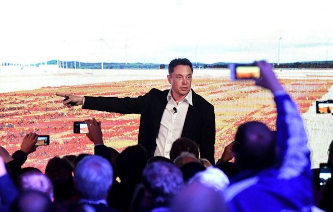 Илон Маск на презентации Tesla, Австралия, сентябрь 2017 года
