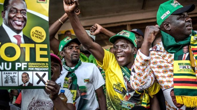 zimbabwe election opposition calls poll results a coup bbc news