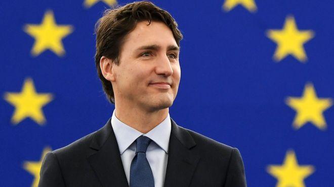 Justin Trudeau at European Parliament, 16 Feb 17