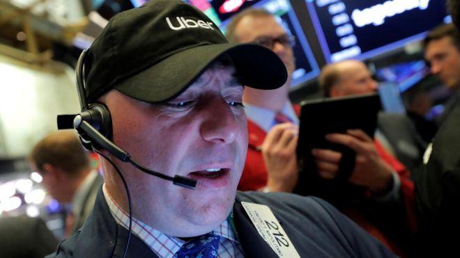 90f912925a63 Uber shares drop further as markets slide - BBC News