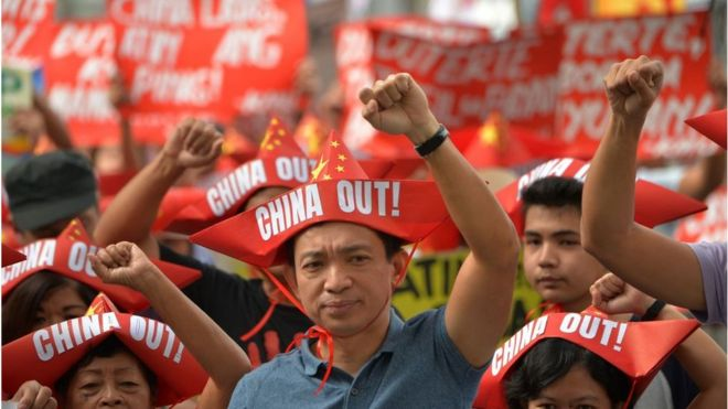 Philippines biểu tình chống Trung Quốc ngày 20/2/2018