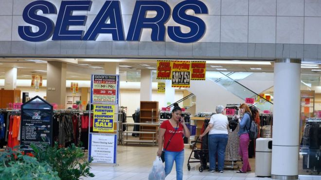 us retail giant sears files for bankruptcy bbc news